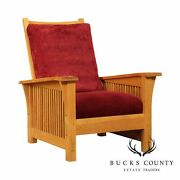 Stickley Mission Collection Natural Oak Morris Chair