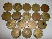 -india Lot Of 17 Old Coins 10 Paise -1968 -1970 -nickel-brass - Rare 11b