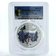 Benin 1000 Francs Russian Winter Pr68 Pcgs Colored Proof Silver Coin 2020