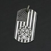 Chrome Hearts Chromehearts Large Dog Tag American Flag/heroes Project/20.2g