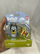 Moose Toys Bluey 2.5 Inch Action Figure Bluey And Xylophone