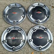 4 Four 67-68 Chevy Deluxe Hubcaps C10 Pickup Truck 15 Wheel Covers Oem Caps