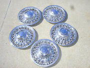 5 Oem 1979-89 Dodge Chrysler Plymouth Rwd 15 Wire Spoke Hubcap Wheel Covers