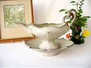 Early Kristen Kieffer - American Art Pottery - Syrup Pourer/gravy Boat And Tray