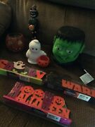 Halloween Decorations Lot Many Different Indoor And Outdoor Some New Some Used