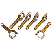 4340 Forged Steel H-beam Connecting Rods + Arp Bolts For Audi / Vw 3.0t 153mm