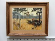Aiden Lassell Ripley Shooting From A Turkey Blind 8x10 Framed 2.5 518
