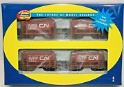 Athearn Rtr Ho 4-pack Cn 24' Ore Cars W/ Loads Rd S 344015,344099,344127,344690