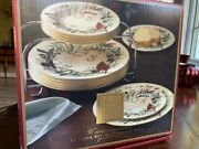 Lenox Winter Greetings 12 Piece Set With Buffet Rack, New In Box