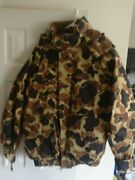 Vintage Columbia Mens L Tall Insulated Duck Hunting Camo Parka Coat And Liner