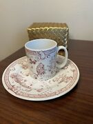 Spode Disney Classic Pooh 7 3/4 Plate And Cup - Pink-2003 Made England