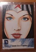2012 Dc The New 52 Artist Sketch Card By Tim Shay 1/1 Wonder Woman