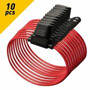 10 Pack 12 Gauge Atc In-line Blade Fuse Holder 100 Ofc Copper Wire Protection