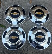 4 Four Chevy 2wd Truck Dog Dish Hubcaps 1/2 Ton 73-87 15 Driver Condition Oem