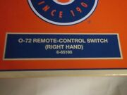 Lionel 6-65165 O O72 Right Hand Remote Control Switch Turnout New