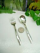 Oneida Community Silver Flower Silverplate Baby Toddler Fork And Spoon Set 1960