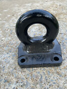 Trailer Pintle Lunette Eye Military Tow Ring 3 Flat 4 Hole Mount 42,000 Lbs Cap