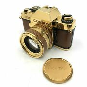 Contax Rts Gold With Planar 50/1.4 50th Anniversary1982 Mint In Box / From Japan