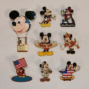 Lot Of 8 Mickey Mouse Pins -- Walt Disney World Nutcracker And More