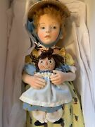 R. John Wright Dolls Marcella And Raggedy Ann Mint Limited Edition No. 225/250
