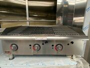 Apw Wyott Heavy Duty Nat Gas Charbroiler/ Chargrill Gcrb-36i With Stand