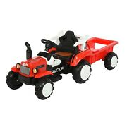 Childrenand039s Electric Tractor Tractor With Detachable Trailer Kid Ride On Tractor