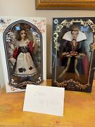 """Disney Store Limited Edition Snow White In Rags And Evil Queen Set 17"""" Doll"""