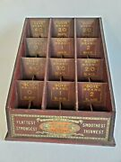 Antique 1919 Boye Brand Fasteners Store Counter Display Wooden Cabinet