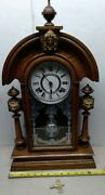 Gorgeous Antique Ansonia King Parlor Mantle Mantel Clock 1880and039s Running Great