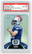 2012 Topps Holiday Mega Football Andrew Luck Rc Refractor Rookie Psa 10 Gem Mint