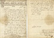 Female Ruler Maria Theresa Of Habsburg Autograph Letter Signed
