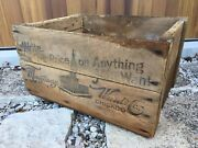 Vintage Wooden Advertising Crate Montgomery Ward Co Chicago Illinois Building