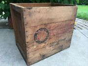 Xl Vintage Wooden Crate Turkey Coffee Kasper Chicago Illinois Box For 3lb Can