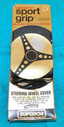 1965-1973 Ford Mustang Shelby Cougar Nos Black Sport Grip Steering Wheel Wrap