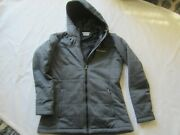Womens Columbia Medium Dark Gray Fall Hooded Jacket Quilted Stitching Excellent