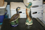 Lot Of 2 Lord Calvert Goose And A 1957 Jim Beam Whiskey Bottle Decanter Duck