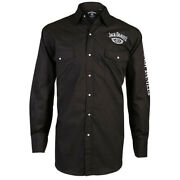 Jack Danielandrsquos Mens Old No. 7 Long Sleeve Embroidered Western Shirt