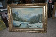 Antique Americana And039cascade Mountains By Julia Bell Dated 1949
