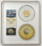 1851 2.5 Liberty Pcgs Vf35 Ss Central America Shipwreck Gold Second Recovery