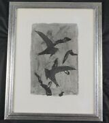 Vintage Original Etching Birds In Flight By French Artist Georges Braque Listed