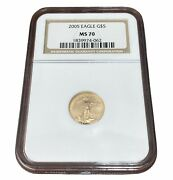 2005 5 Gold American Eagle Coin Ngc Ms 70