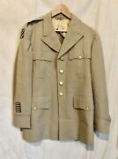 Wwii 3rd Infantry Division Patch Lt Col Officers Tropical Khaki Jacket M-1 Coat