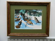 Aiden Lassell Ripley Grouse Under Pines 8x10 Framed 3.5 358