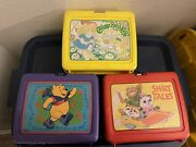 3 Vintage Lunch Boxes Thermos Cabbage Patch Kids Shirt Tales Winnie The Pooh