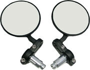 Harddrive Black Cafe Style Bar End Mirrors Left Right Set Harley 7a 1911