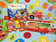 Cocomelon Toy Bundle Musical Tractor, Keyboard, Plush Book And Mini Cars