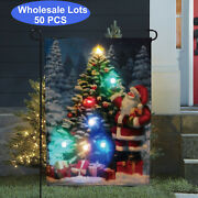 Wholesale Lot 50x Led Lighted Christmas Garden Flag For Garden Patio Lawn Yard