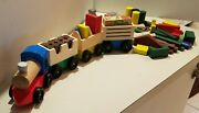 Melissa And Doug Farm Train Set 4545 Wooden Train With Blocks And Lincoln Logs