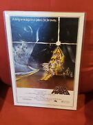 Star Wars 1977 Original 1st Print One Sheet 'style A' Rare Movie Poster 77/21-0
