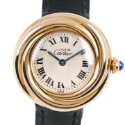 Trinity Vermeille Must Watches Gold/black Silver925/leather/buckle...